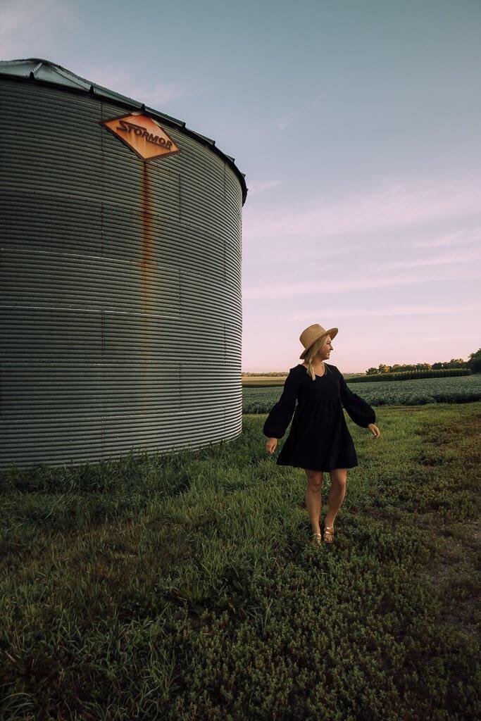 Silo in a field near Omaha, Nebraska