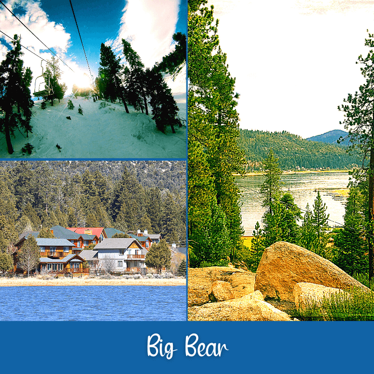 Big Bear Lake is a fun getaway in San Diego that has nearby skiing in the winter and lots of lake fun in the other seasons.