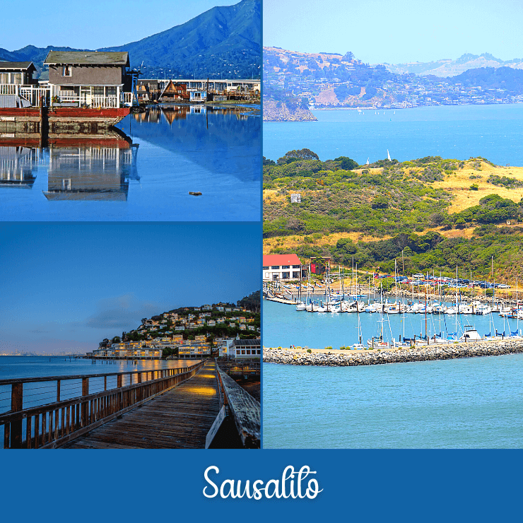 Sausalito makes for a fun ladies weekend just north of San Francisco, with floating homes, spas, waterfront dining, and gorgeous views of San Francisco's skyline.