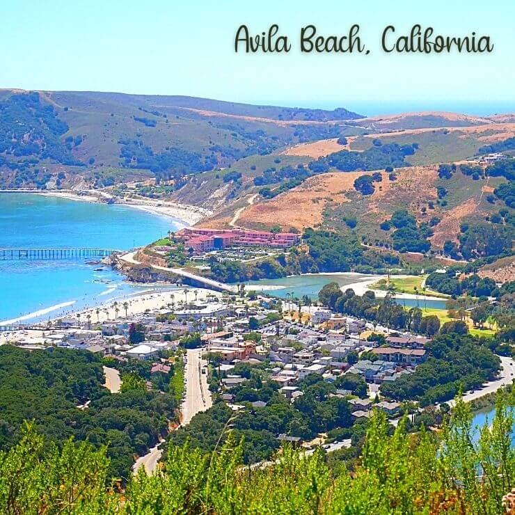 Avila Beach may be California's best-kept secret; aerial view of Avila Beach.