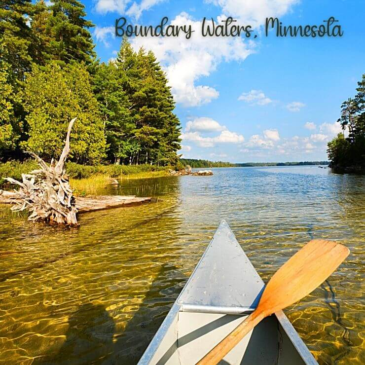 Get off the beaten path with a canoe ride through the Boundary Waters in Minnesota.