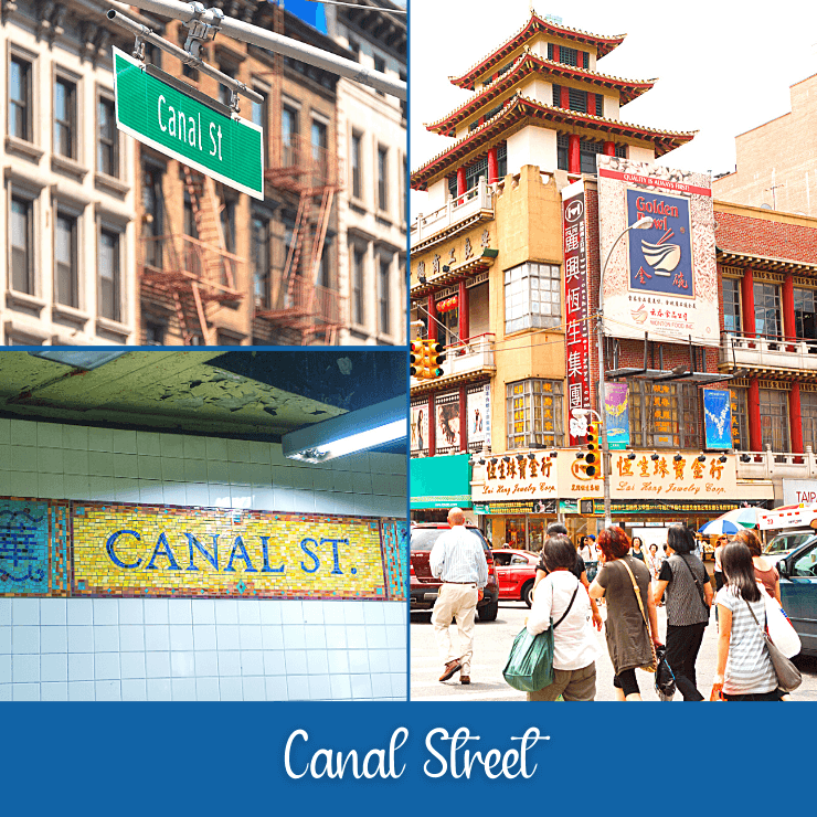 Spend part of your day in New York City doing some epic shopping along Canal Street.