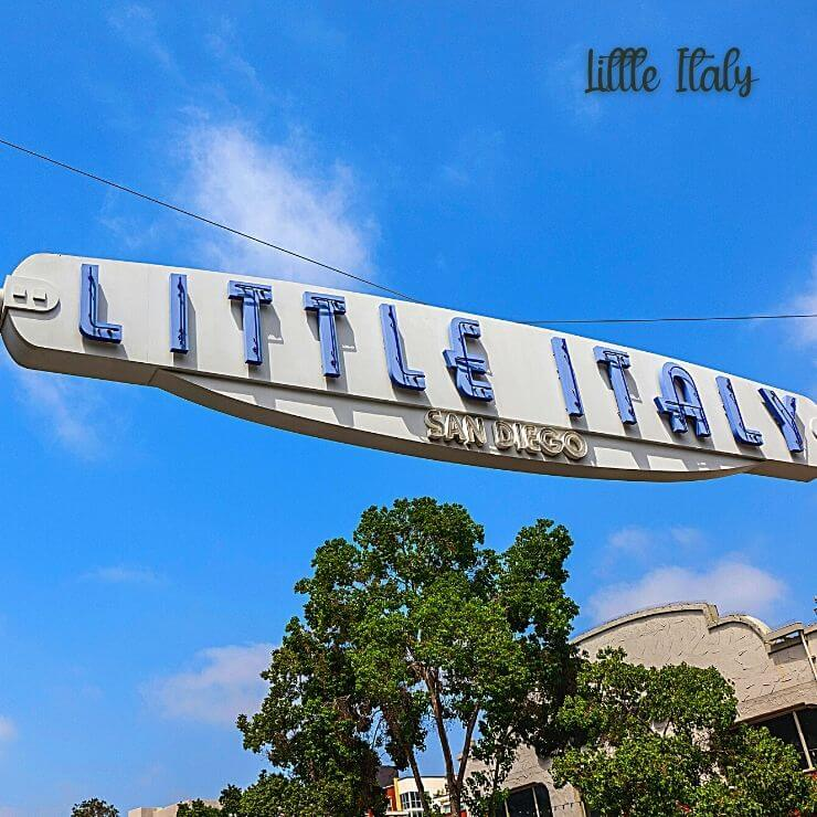 The picture-perfect Little Italy sign in San Diego.