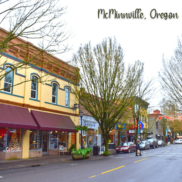 Main Street aka 3rd Street of McMinnville, Oregon. McMinnville is a great weekend trip for those looking to do some wine tasting in the Willamette Valley.