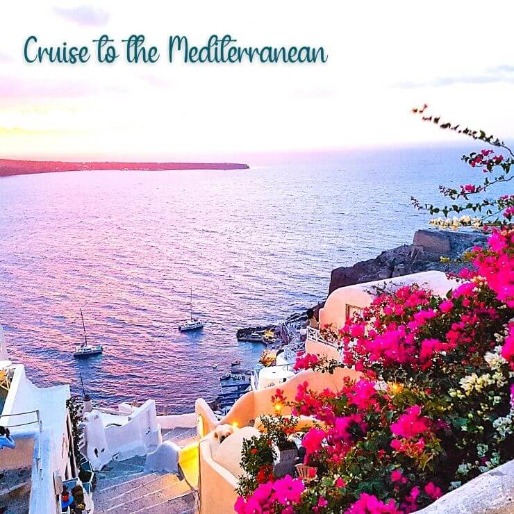 Escape to the Mediterranean on a cruise and you'll have views like this one in the Greek Isles.