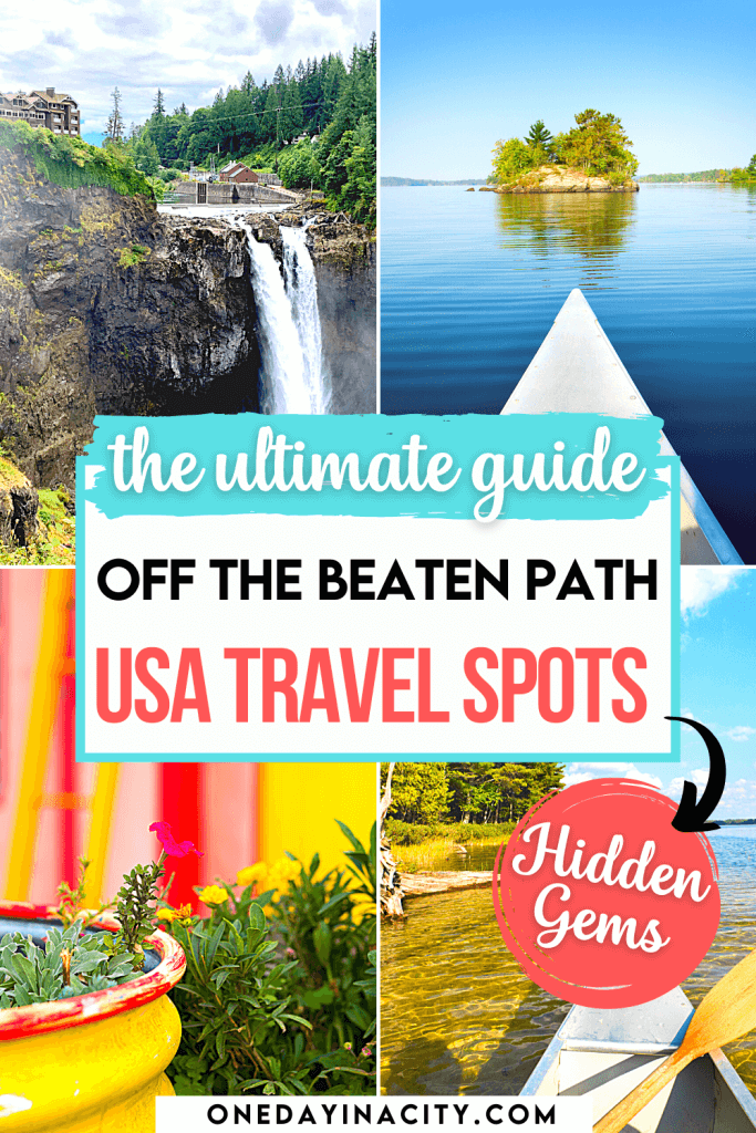 Get to these secret places in the USA before everyone else discovers them! This list of the top 10 hidden gems in the US are off the beaten path and still provide you with an epic vacation, whether you're looking for beaches or mountains, wineries or boutiques, or spa days and more.