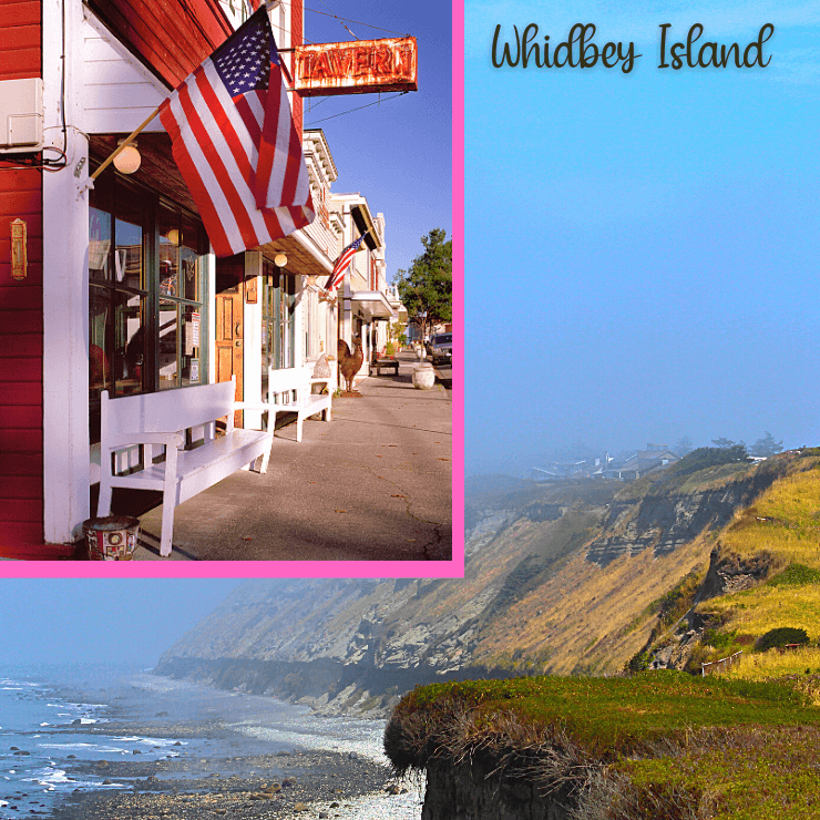 Whidbey Island Beach and the Town of Langley. Whidbey Island in Washington near Seattle is one of the best island weekend getaways in the Pacific Northwest.