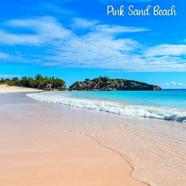 Horseshoe Bay Beach in Bermuda. Horseshoe Bay Beach is one of the pink sand beaches of Bermuda, a must-see site when cruising to Bermuda's cruise port.