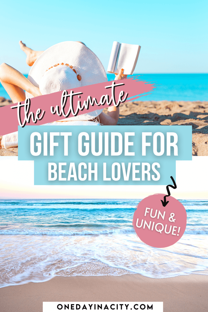 Need a gift for someone who loves the beach? You're in the right place. I live by the beach and adore it! Here are all my top picks for the absolute best gifts for beach lovers. These beach gift ideas are fun and unique, and some are even functional without being boring! You'll find the perfect beach gift for a friend, family member, coworker, or teacher in this gift list.