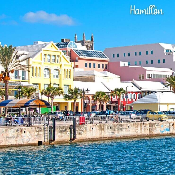 Hamilton, a historic and colorful town in Bermuda