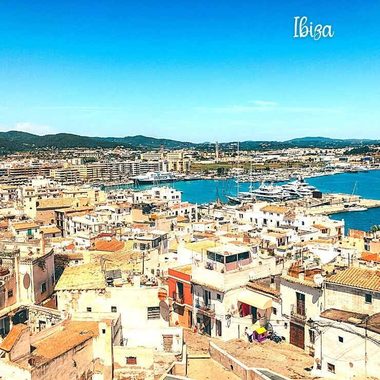 Ibiza Old Town - Ibiza is a popular island to visit that is part of Spain.