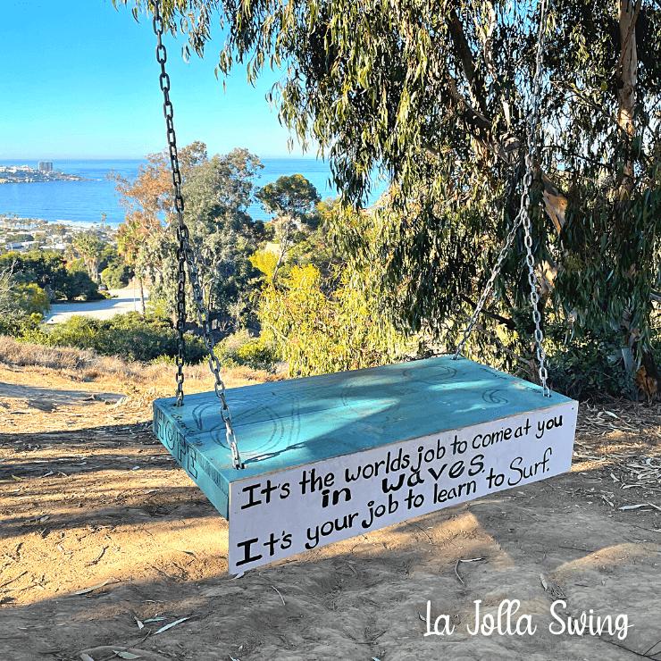 Secret Swing in La Jolla with view of the ocean.