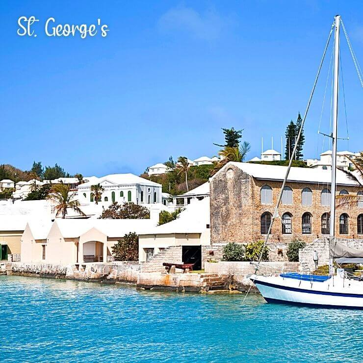 Historic buildings in the UNESCO World Heritage Site of St. George's, a great place to visit on a trip or cruise port of call in Bermuda.
