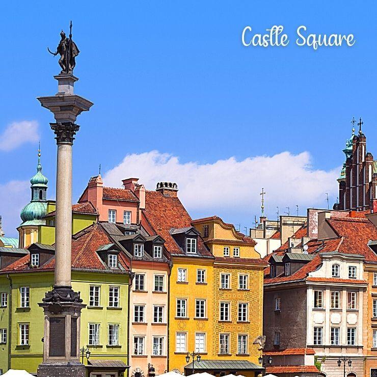 Beautiful Architecture in Warsaw Around Castle Square