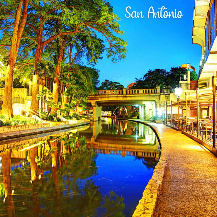 River Walk area of San Antonio, TX