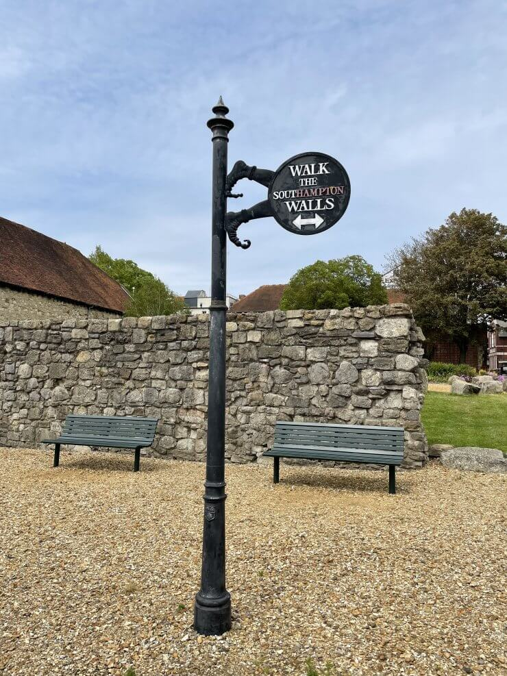 The city walls of Southampton are perfect for a walk during your day trip to Southampton