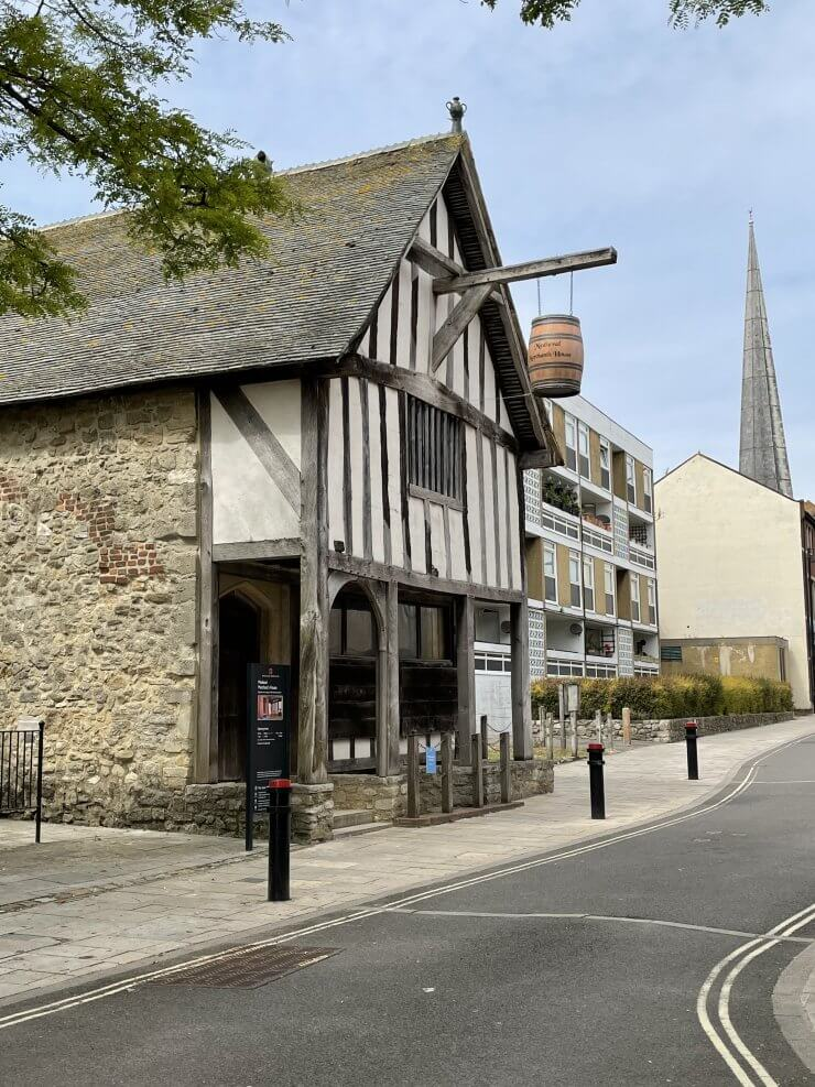 The Medieval Merchant's House is a great example of the unique architecture to behold during a day visiting Southampton, England.