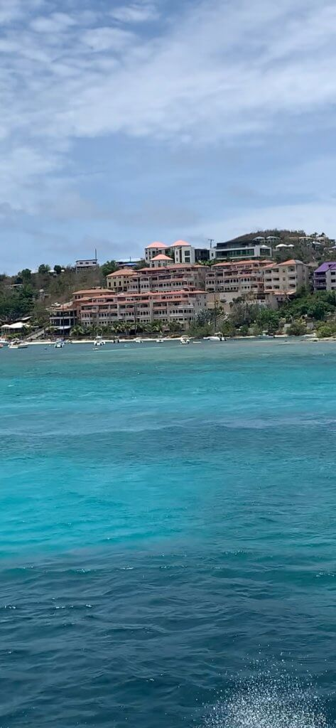 St. Thomas seen from a ferry.