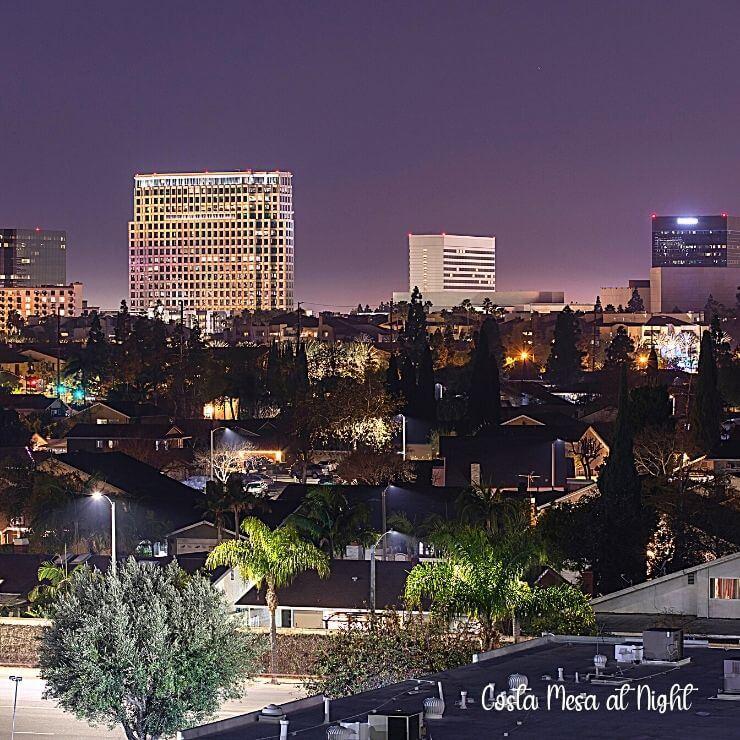 Costa Mesa Skyline at Night