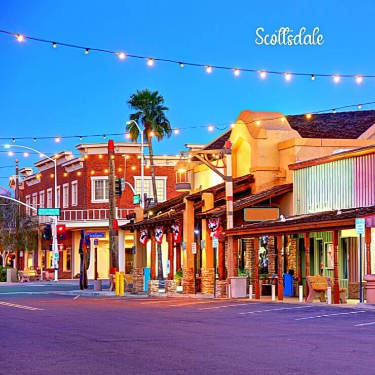 The Old Town neighborhood in Scottsdale, Arizona is a great girls trip destination.