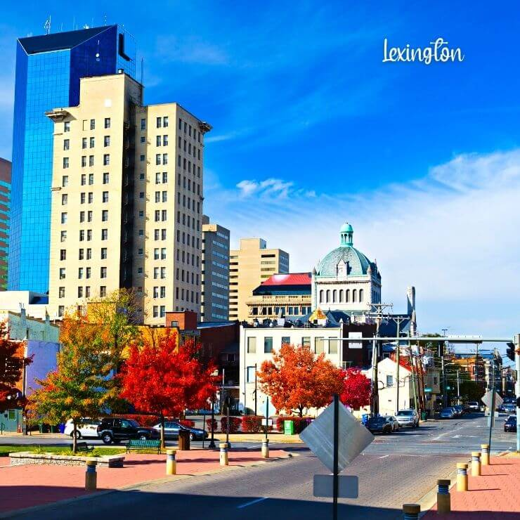 Lexington, Kentucky is a great day trip for horse fans.