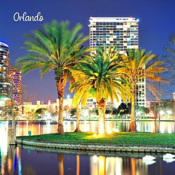 Orlando, FL in the evening.