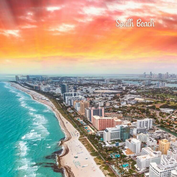 Epic coastline of South Beach, perfect for a Florida girls trip.