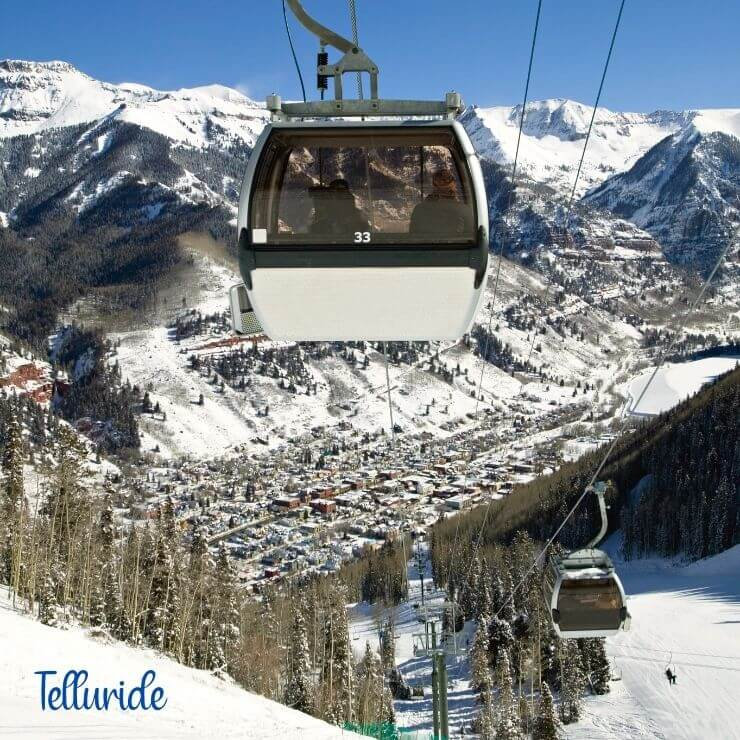 Telluride, Colorado is one of the best winter getaways in the USA.